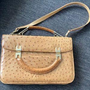 Handbags - Timeless genuine ostrich skin elegant satchel